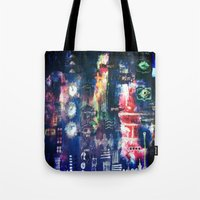 industrial Tote Bags featuring industrial by Hamster&hearts