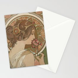 PRIMROSE Flower 1899 Alphonse Mucha Stationery Cards