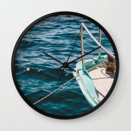 BOAT - WATER - SEA - PHOTOGRAPHY Wall Clock