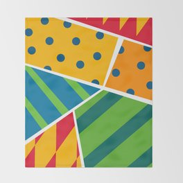 Party Poppers Throw Blanket