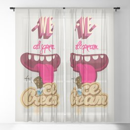 We All Scream For Ice Cream Sheer Curtain