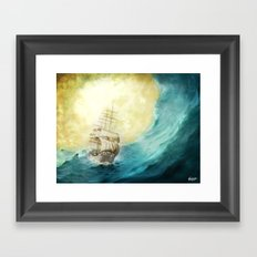 Through Stormy Waters Framed Art Print