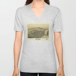 Aerial View of Patterson (Mifflin), Pennsylvania (1895) Unisex V-Neck