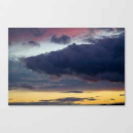 Clouds painted with separation Canvas Print