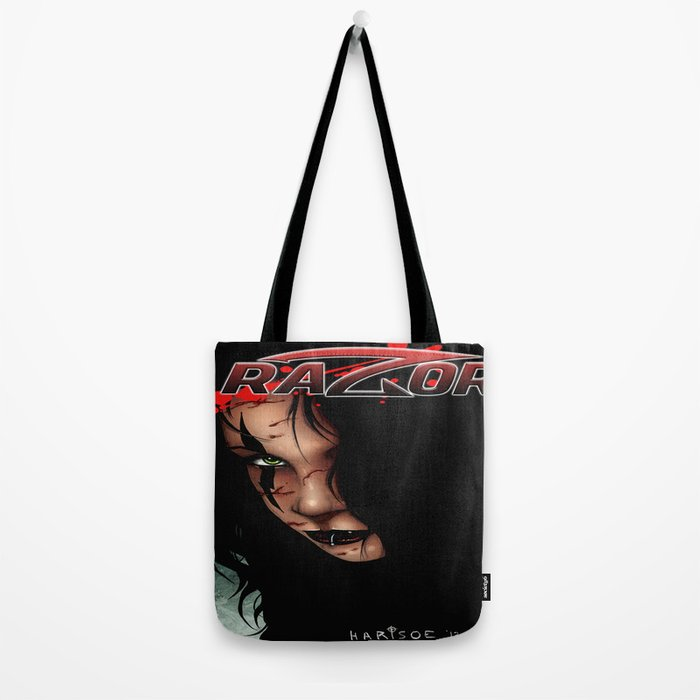 RAZOR face by Everette Hartsoe Tote Bag