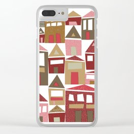 Peppermint Village Clear iPhone Case