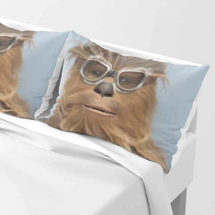 Goggle Wookie Pillow Sham