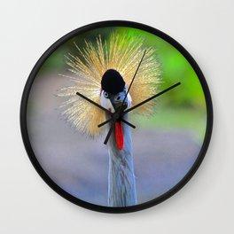 curious crane Wall Clock