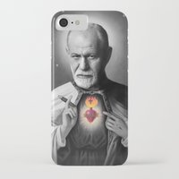 freud iPhone & iPod Cases featuring Freud by Michelle Wenz