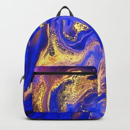 Marble gold and deep blue Backpack
