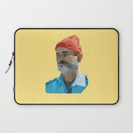 Steve Zissou low poly portrait Laptop Sleeve