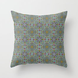 Fruits and Veggies - cute healthy food pattern Throw Pillow
