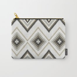Beige Aztec Carry-All Pouch