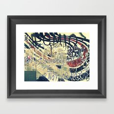 Elliott Smith Memorial Wall Framed Art Print