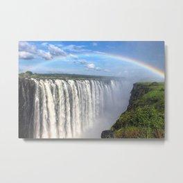 Victoria Falls , Africa, Zambia, Zimbabwe Metal Print