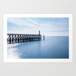 Peaceful sea, dreamful lighthouse Art Print