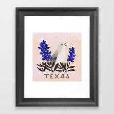 Texas State Bird and Flower Framed Art Print