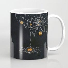 Halloween Spider on Web Coffee Mug