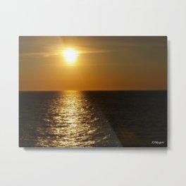 Horizontal Horizon  Metal Print