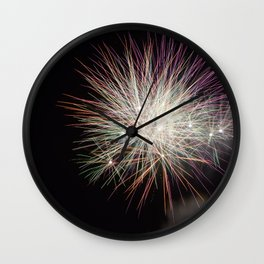 Shot in Explosions Wall Clock