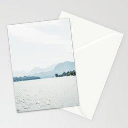 Bright Haze Mountains - Switzerland Alps - Lake Luzern  Stationery Cards