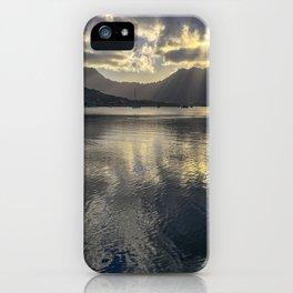 Dusk over Kaneohe Bay iPhone Case