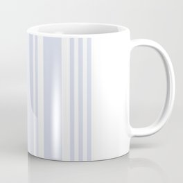 Pale Blue Gray Stripe no.05 Coffee Mug