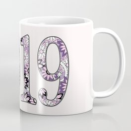 2019 patterned with pink flowers Coffee Mug