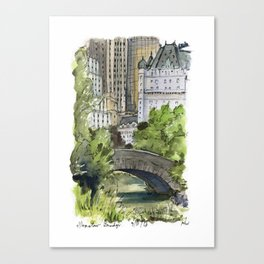 Central Park: Gapstow Bridge Canvas Print