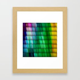 Multicolored Rectangle Pattern Framed Art Print