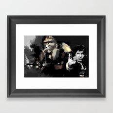 Han Solo & Chewbacca Framed Art Print