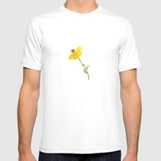 Chrysanthemum White Mens Fitted Tee SMALL