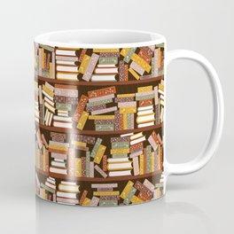 Bookshelf Pattern Dark Coffee Mug