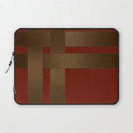 Weave Brown satin ribbons Laptop Sleeve