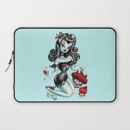 Vampire Vixen with Devilish Cupcakes Laptop Sleeve