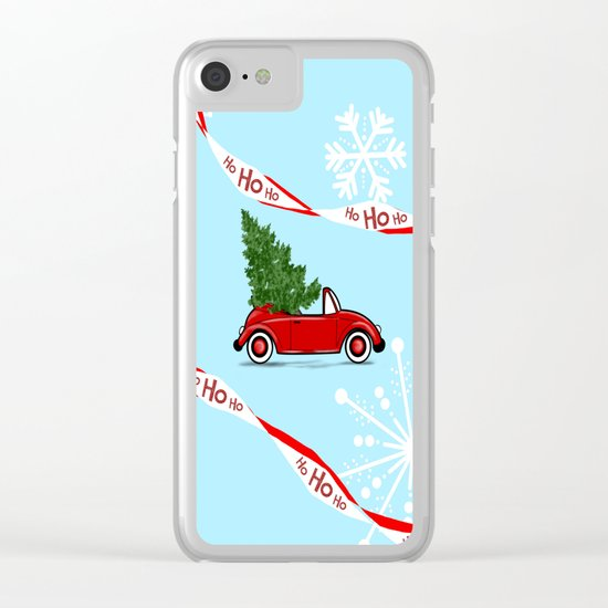On The Road For Christmas ! Clear iPhone Case