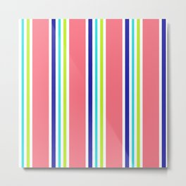Summery Cool Lines Metal Print