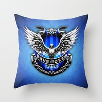ravenclaw Throw Pillows featuring HARRY POTTER RAVENCLAW by Veylow