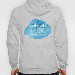 Wabi Sabi Word Nerd Definition - Blue Watercolor Hoody