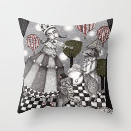 Alice's After Tea Concert Throw Pillow