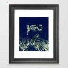 lucky Seven fade FERN Framed Art Print
