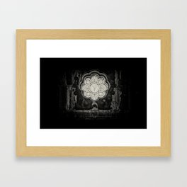 Inside the Grave... Framed Art Print