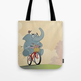 Mr. Elephant & Mr. Mouse 'Bicycle' Tote Bag