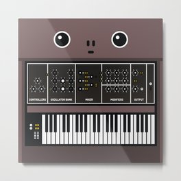 synthesizer Metal Print