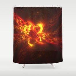 Fractal Flame Explosion Shower Curtain