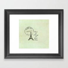White Paris is Always a Good Idea Audrey Hepburn  Framed Art Print