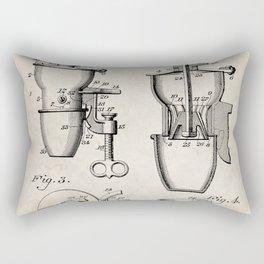 Coffee Mill Patent - Coffee Shop Art - Antique Rectangular Pillow