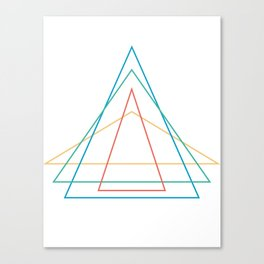 4 triangles Canvas Print