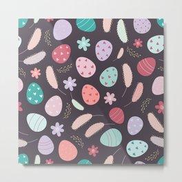 Colorful Easter Eggs Pattern Metal Print