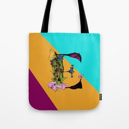 Come On Eileen, Floral Letter E Tote Bag